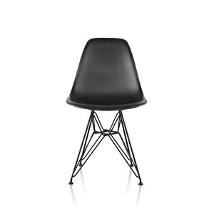 Eames Molded Plastic Side Chair, Wire Base, DSR