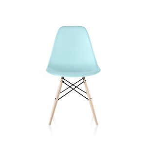Eames Molded Plastic Side Chair, Dowel Base, DSW